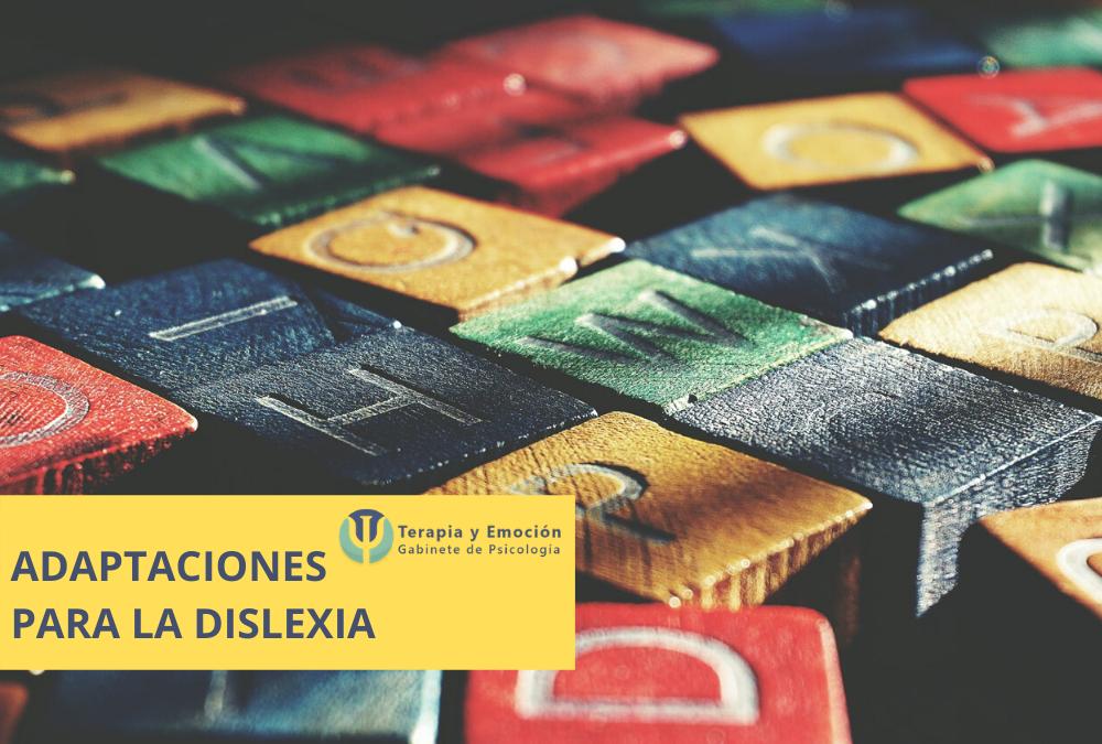 Adaptaciones para la dislexia