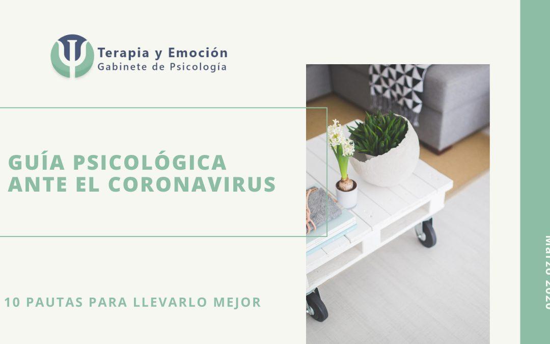Guía psicológica ante el Coronavirus