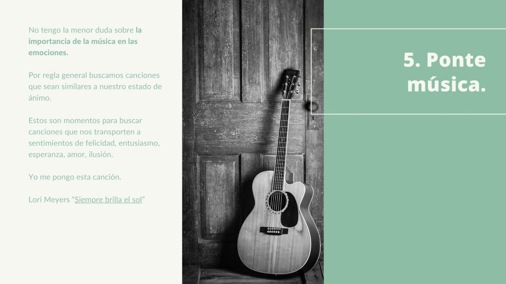 Ponte música. Terapia online. Terapiayemoción