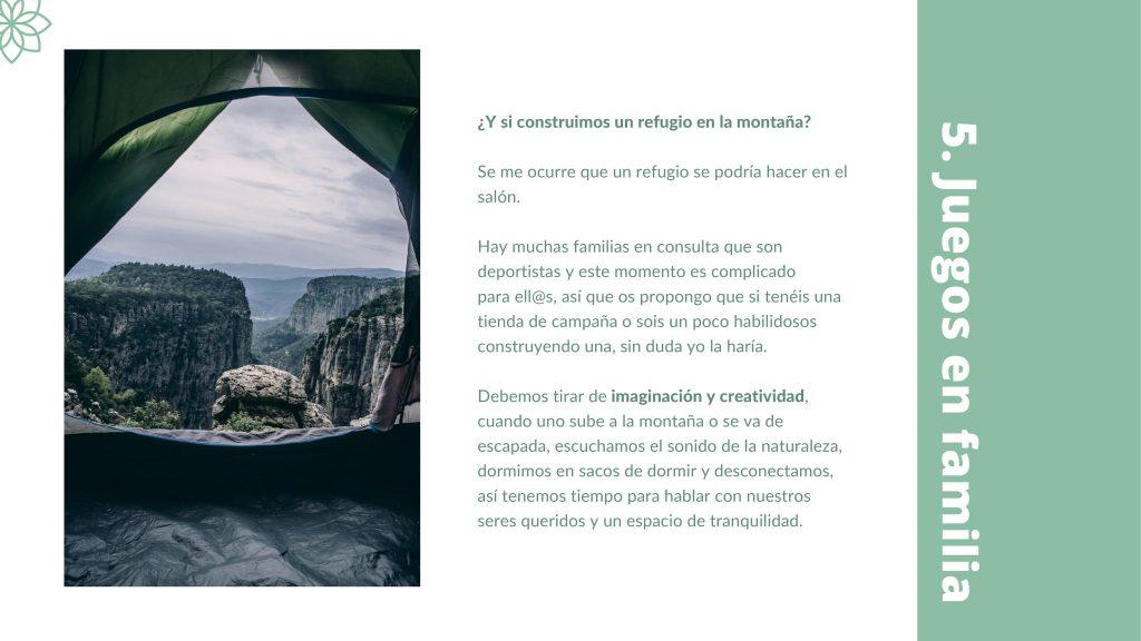 Refugio en la montaña. Terapia online. Terapiayemoción