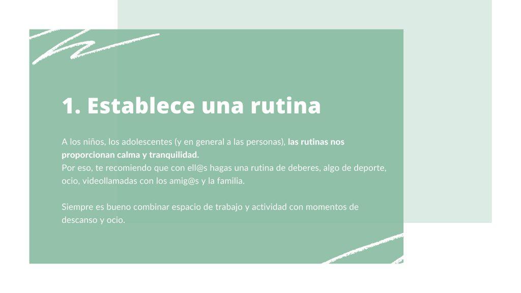 Rutinas. Terapia online. Terapiayemoción