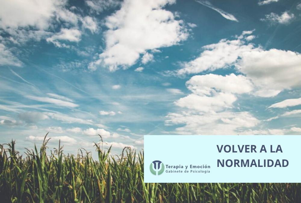 ¿Cómo volver a la normalidad o aprender a parar?