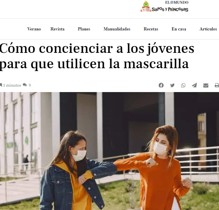 Terapiayemoción Colaboración con Sapos y Princesas. Psicólogos Madrid medios de comunicación
